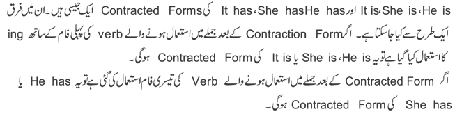 contracted form of it has